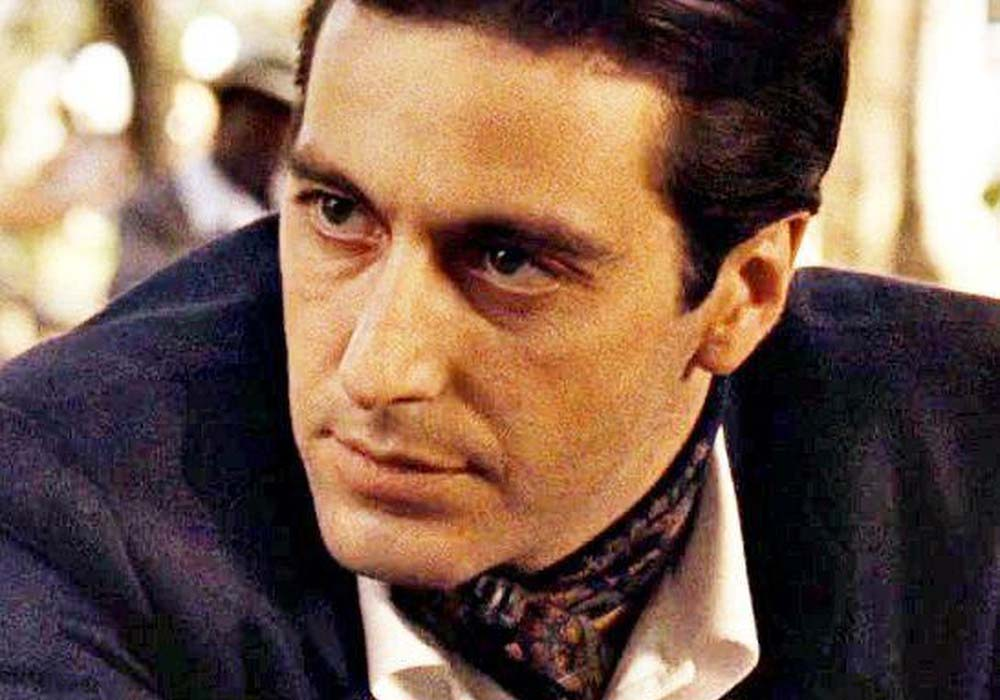 Al Pacino wearing a cravat
