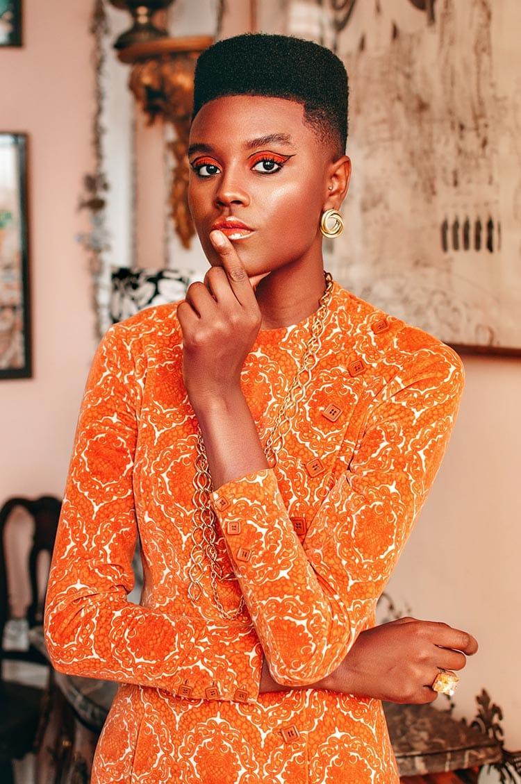 orange makeup africa