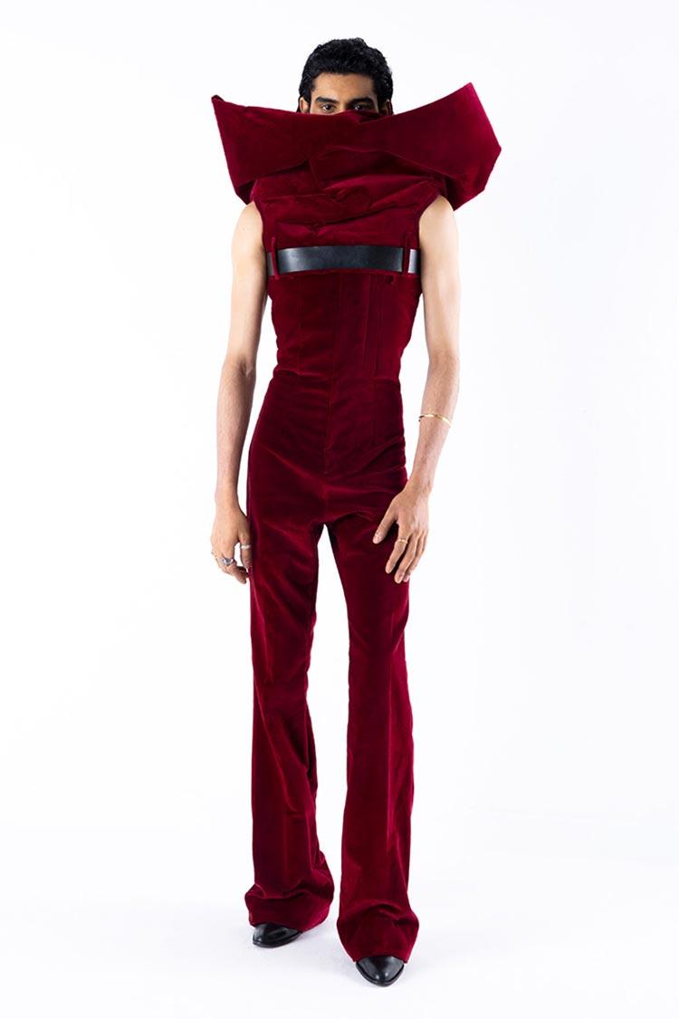 Arturo Obegero red rose velvet
