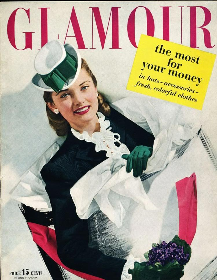 Cover of Glamour in April 1943