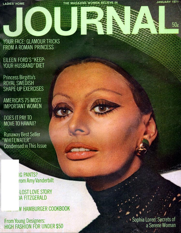 Cover of Glamour inJanuary 1971 Issue
