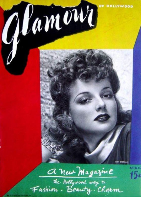 First Issue of GlamourFeaturing Hollywood Actress Ann Sheridan in 1939