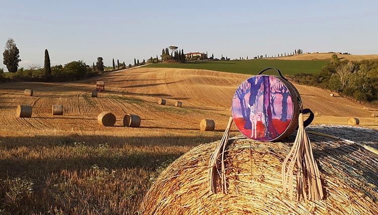 Vegan handpainted bag Tuscany 2021