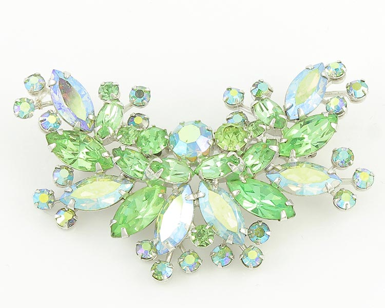 Vintage Weiss Brooch with Aurora Borealis Crystals.