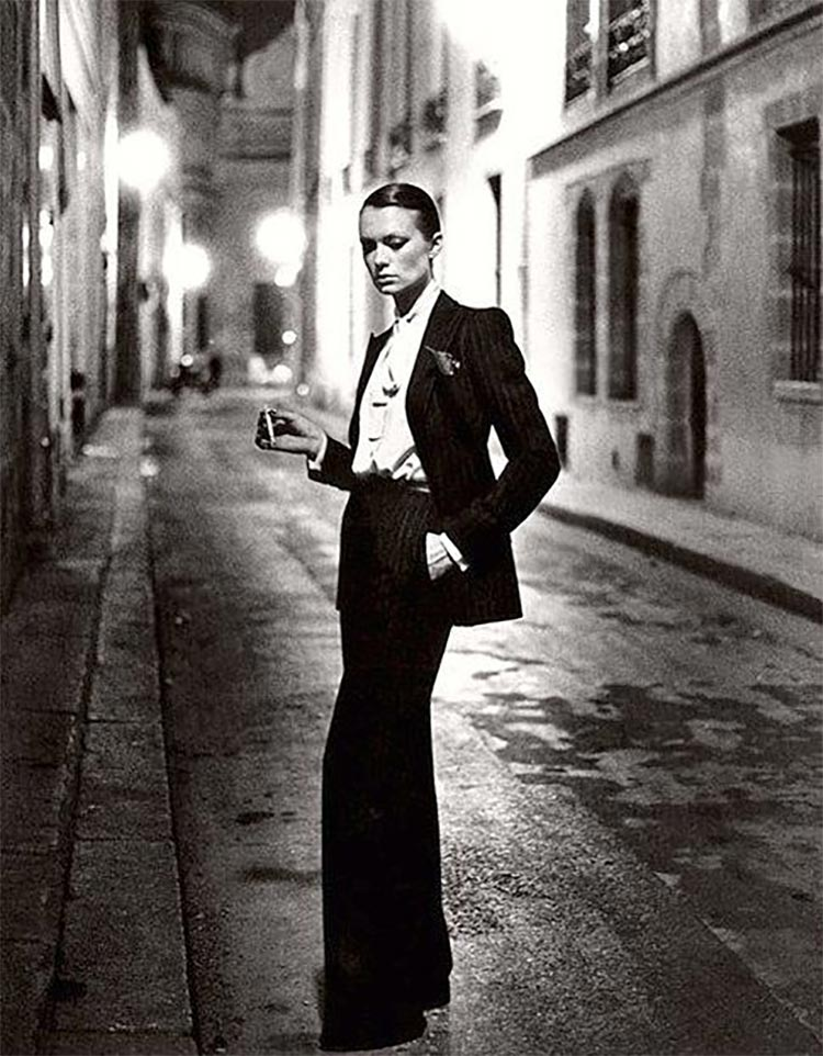 YSL smoking woman 1966
