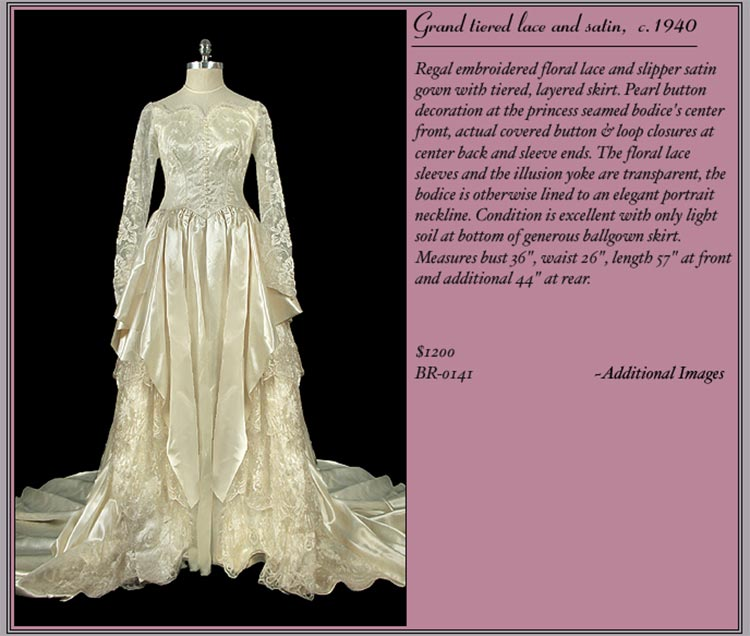 wedding vintage dresses