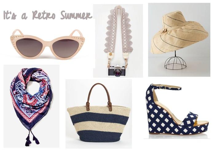 Retro summer accessories