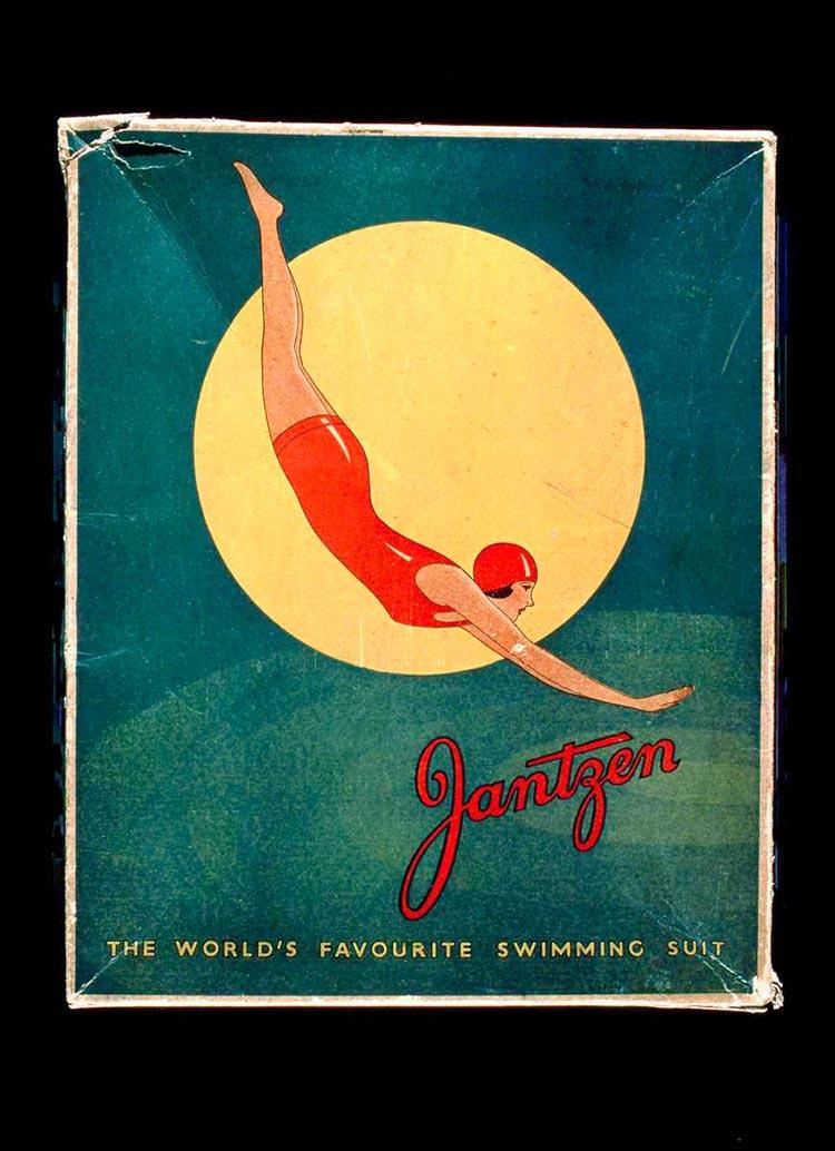 jantzen-box red diving girl