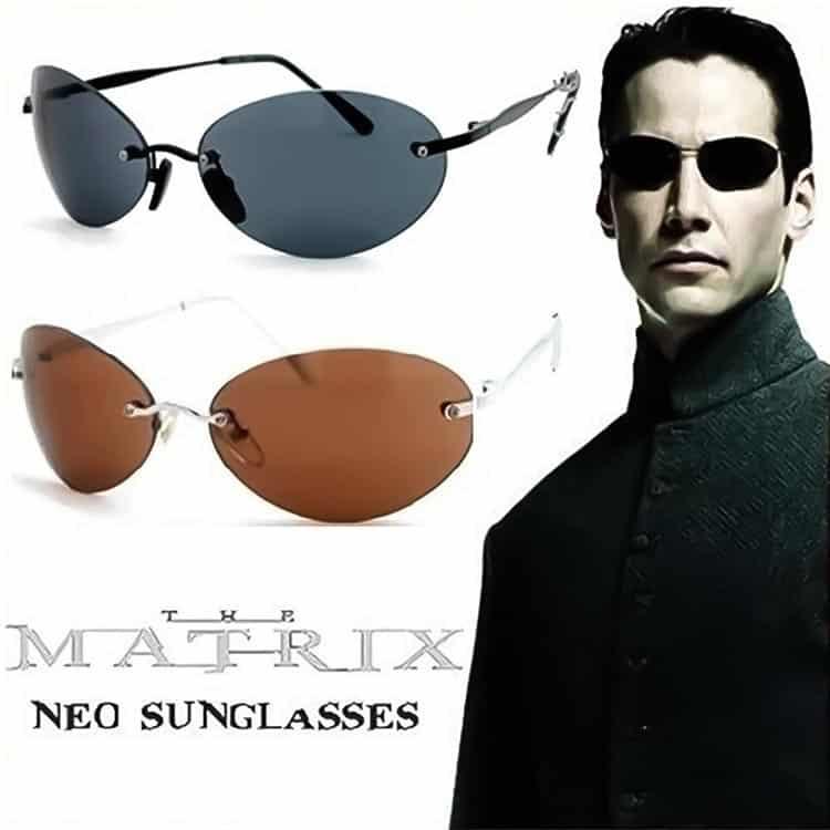 Matrix Black Grey Rimless Unisex 1990s
