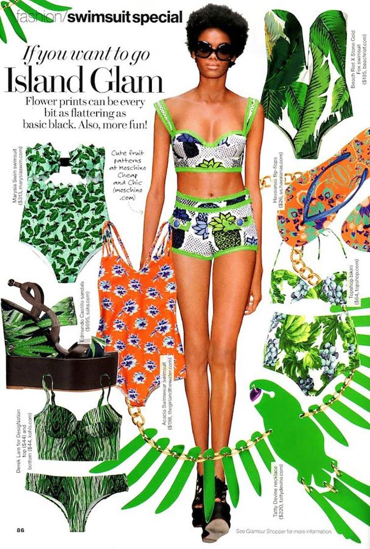 flower prints green Moschino