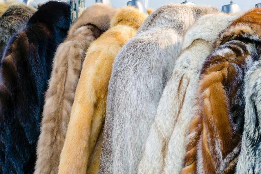 fur vintage coat (