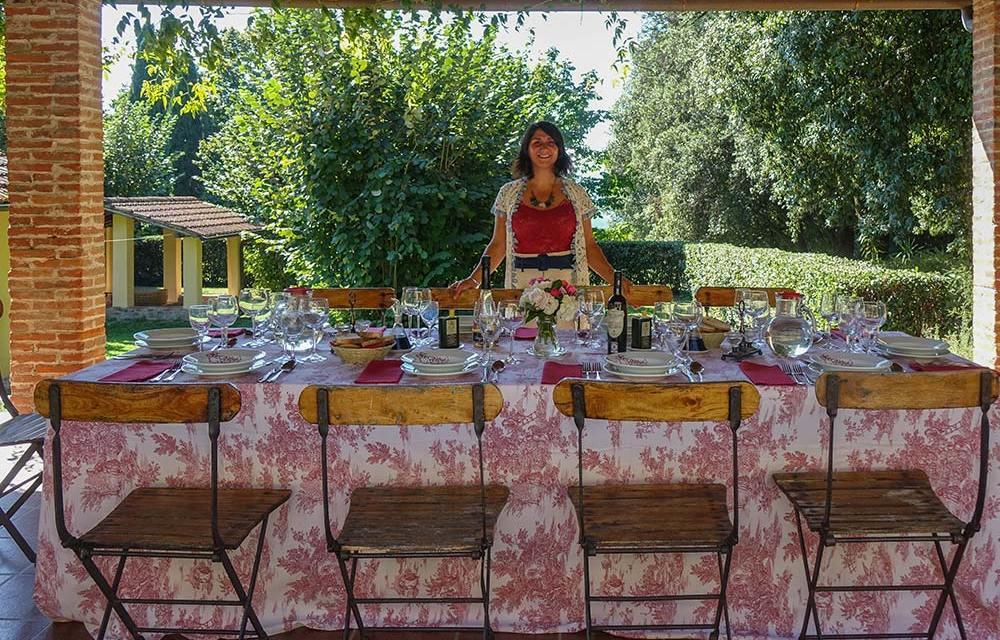 Al Fresco Dining Tuscany Italy Gracie opulanza