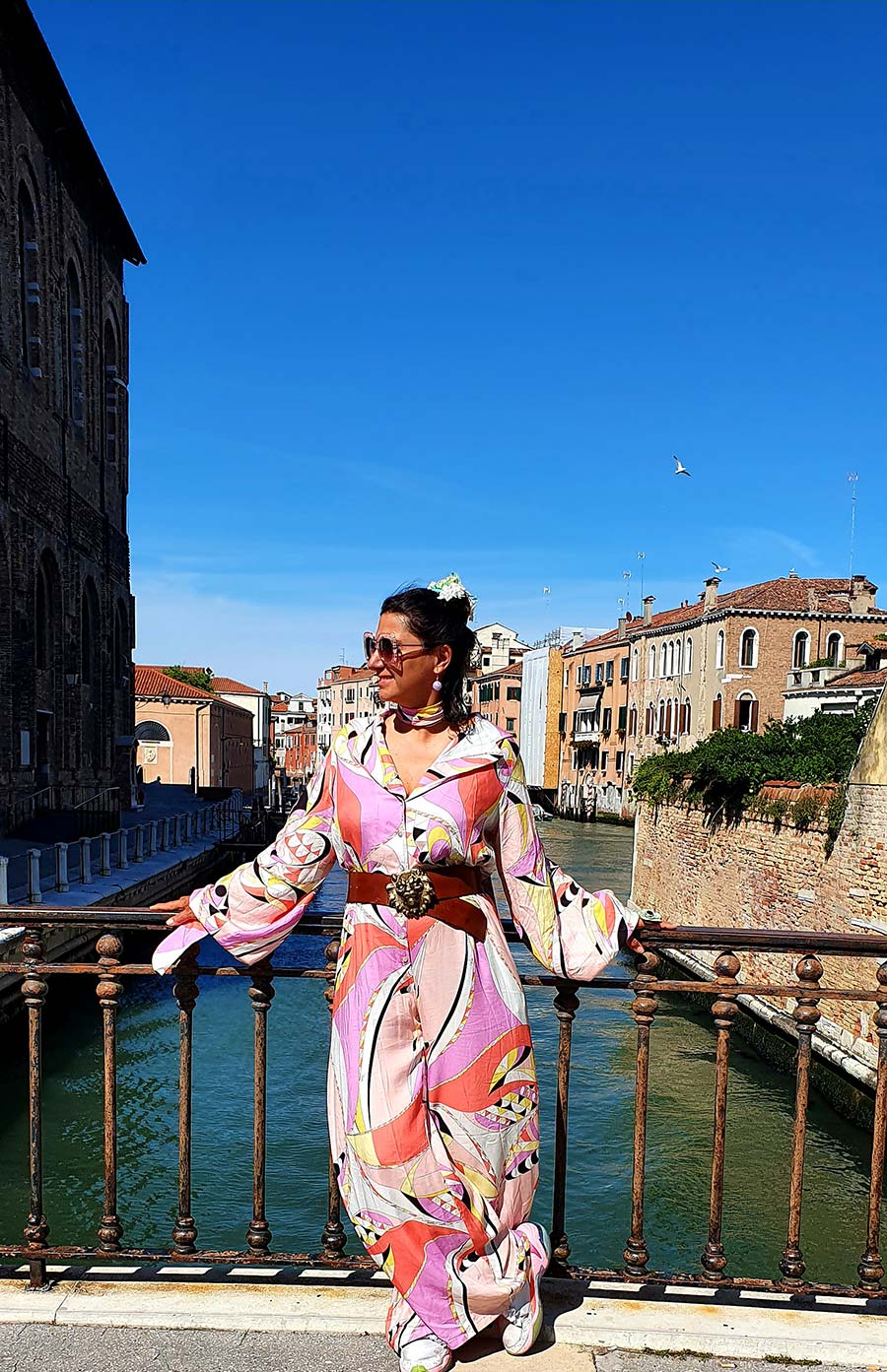 Gracie Opulanza Pucci print playsuit venice 2021 vintage (1)