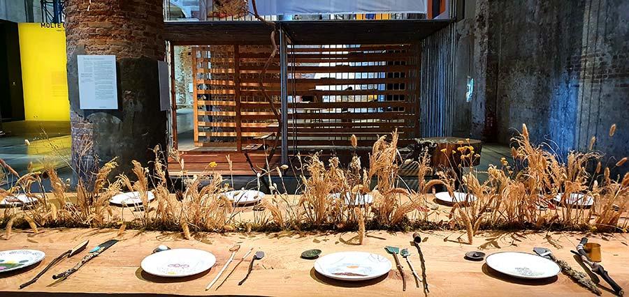 Living room La Biennale Venice wood