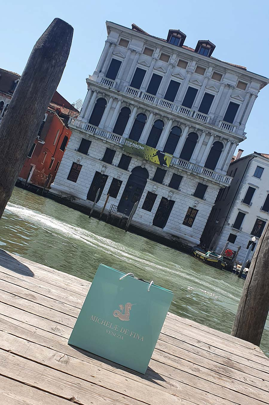Micheledefina venezia Orange One hadle handbag Made in Italy (1)