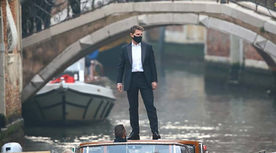 Tom Cruise Mission Impossible 7 Venice Riva speedboat