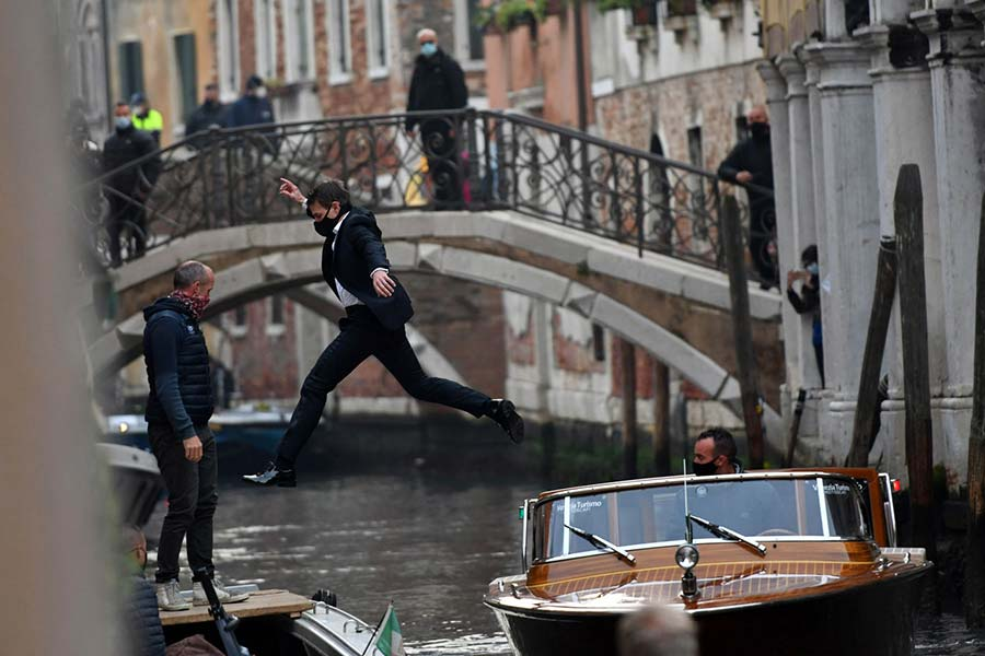Tom Cruise Mission Impossible Venice Riva Speedboat