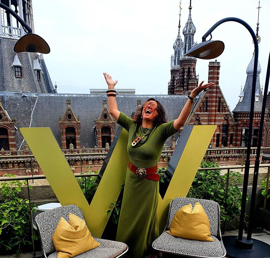 WAmsterdam Olive Green Gracie Opulanza Vanilia Dress