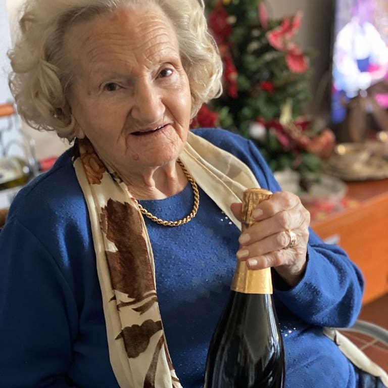 champagne at 94 years old