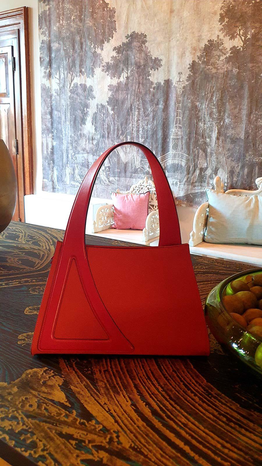 Michele De Fine Aragosta orange leather bag Gracie Opulanza made in italy (1)