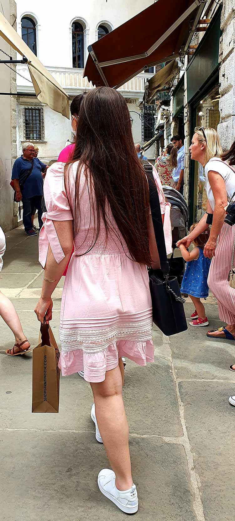 Pink dress venice