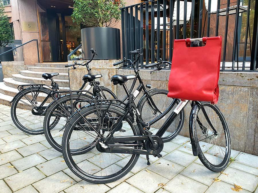 bike red backpack