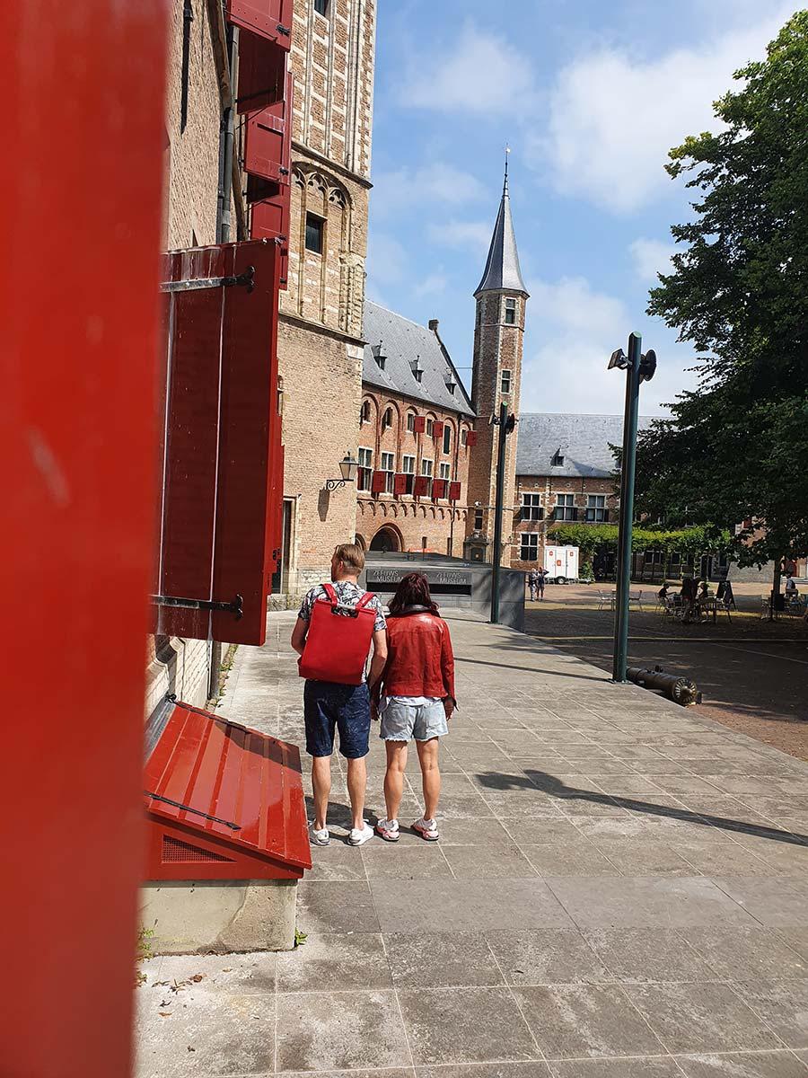 red Ferrari leather backpack Gracie Opulanza
