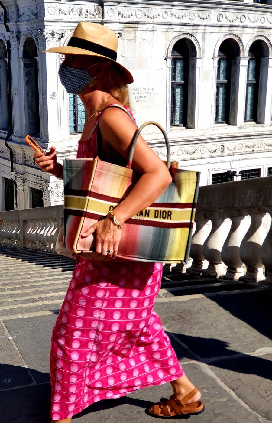 Dior canvas tote bag Venice