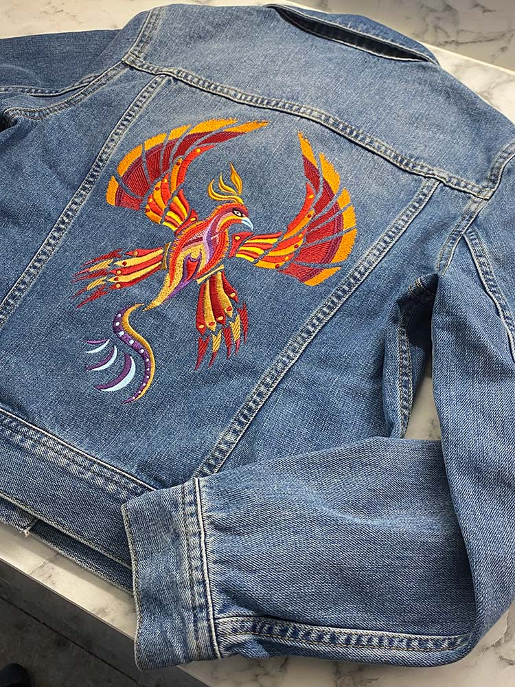 Firebird represents strength and fragility and the balance between those things