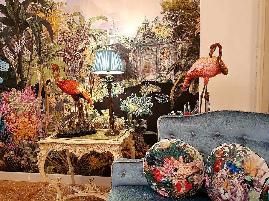 Flamingo wallpaper art