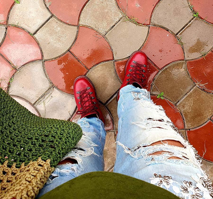 denim MET jeans GO Red Hiking Boot