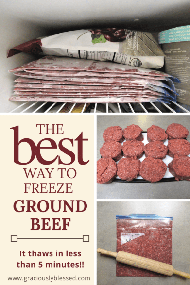 The BEST way to freeze ground beef - or any meat.