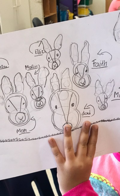 How to draw a Bunny Tutorial for Kids