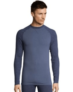 Men's polo long sleeves thermal crewneck