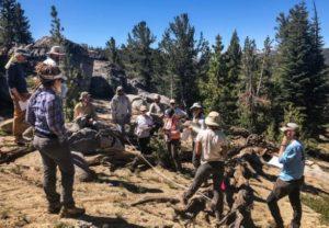 Training crew in Tahoe, California.