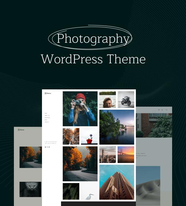Norm - Photography Elementor WordPress Theme - 1