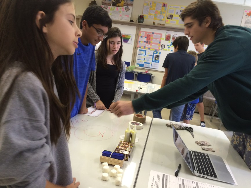 HS student leading Constraints Station