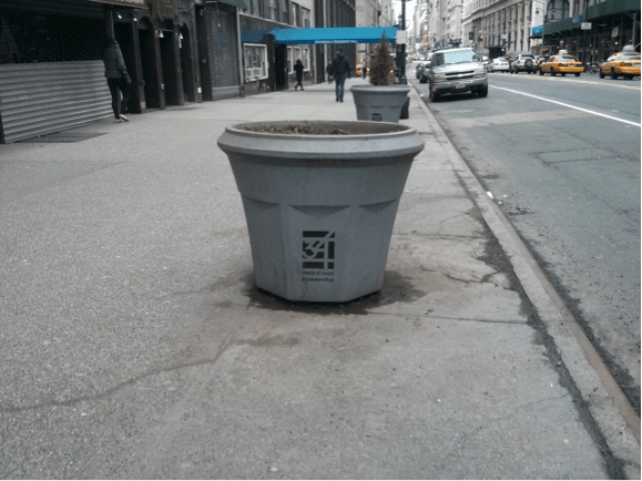 Figure 4: Planters on 34th Street near Penn Station Source: Jones (2014)