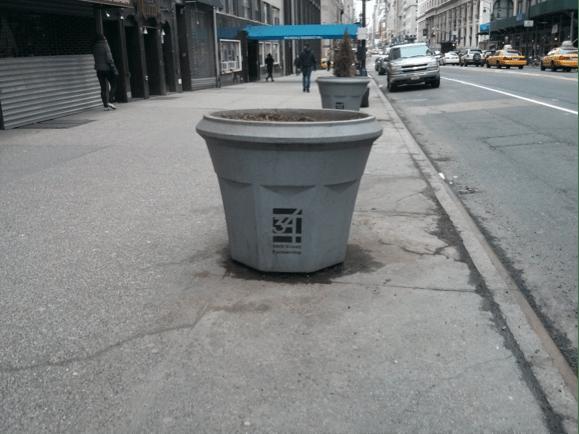Figure 4: Planters on 34th Street near Penn Station Source: Jones (2014)