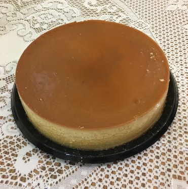 Flan — one of the desserts my mom sells to help pay for my education.