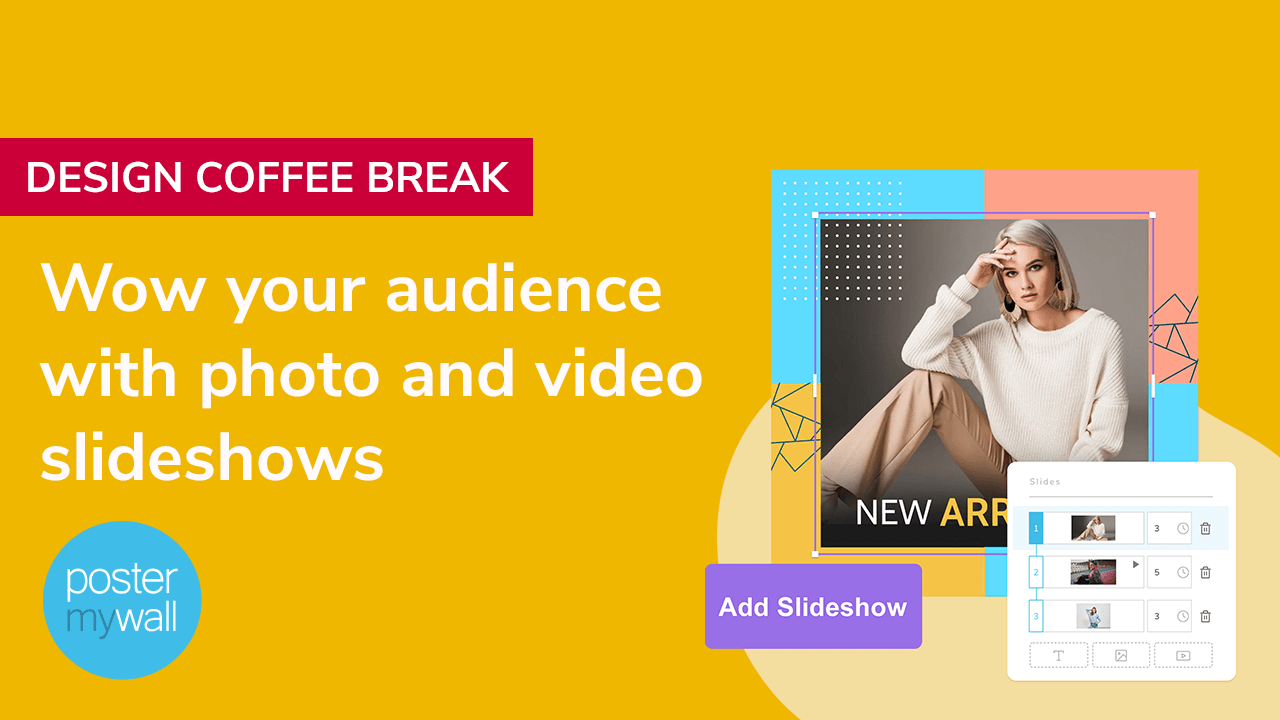 Wow your audience with photo and video slideshows