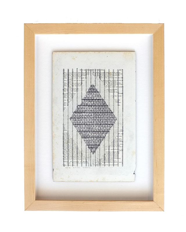 Now available on our website:  Textract #17  Original work on paper from the exhibition Playgrounds by @michellekohlerstudio  From the series Textracts – 18 chapters of the Bhagavad Gita transcribed visually with a typewriter into forms inspired by 17th Century tantric paintings.  Work size:  6.75″ x 9.25″ Framed size:  10.75″ x 13.25″  Link in our bio.