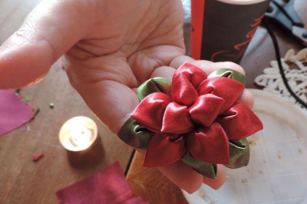 Atelier flori kanzashi de craciun 13