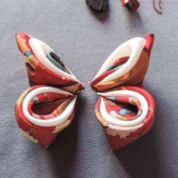 Tutorial fluture din materiale textile - mătase, organza, bumbac, satin - fluturi handmade