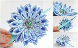 Crizantema bleu deschis