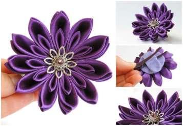 Crizantema mov inchis mica