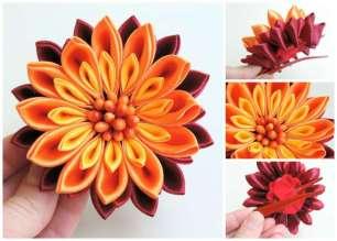 Crizantema rosu-galben