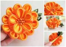 Dalie oranj-galben