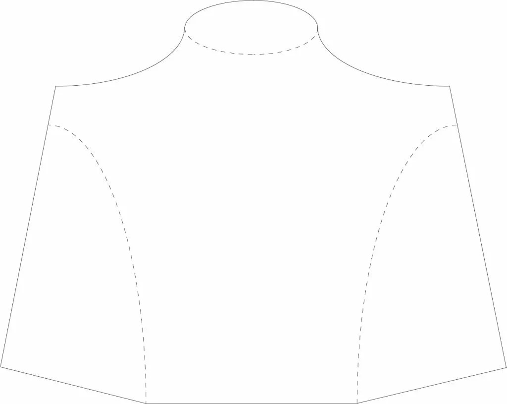 DIY necklace display stand template - sablon - model bust prezentare coliere