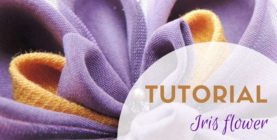 Tutorial silk iris flower